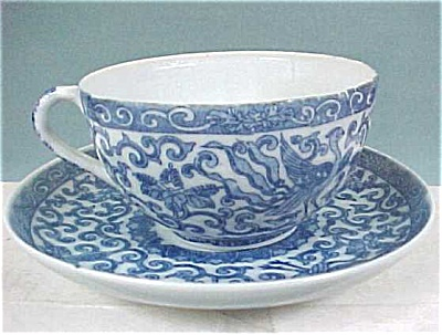 Delicate Pheonix Bird Cup And Saucer
