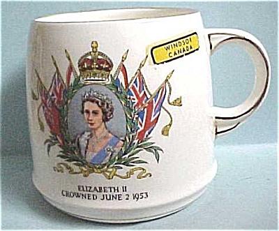 1953 Queen Elizabeth II Coronation Mug (Image1)