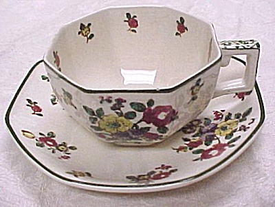 Royal Doulton Old Leeds Sprays Cup and Saucer (Image1)