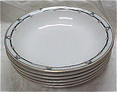 Five Edwin M. Knowles China Plate/bowls