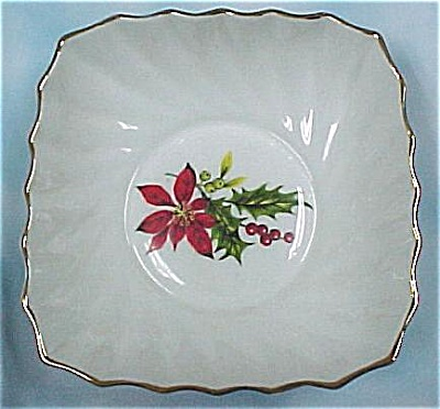 Royal Adderley Ridgway Poinsettia Dish (Image1)
