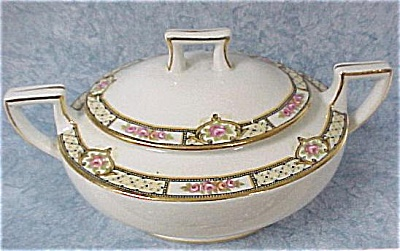 Homer Laughlin Covered Sugar Bowl (Image1)