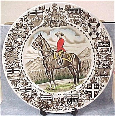 Ironstone Canadian Mountie Souvenir Plate (Image1)