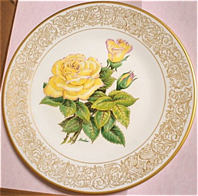 Boehm Peace Rose Plate