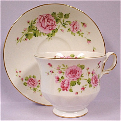 1974 Avon Pink Roses Teacup And Saucer