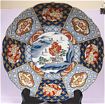 Handsome Handpainted Medallion Style Oriental Plate (Image1)