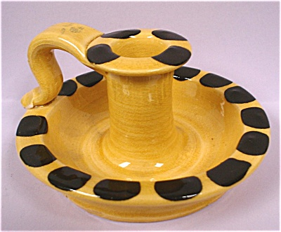 1950s/1960s Williamsburg Pottery Candle Holder (Image1)