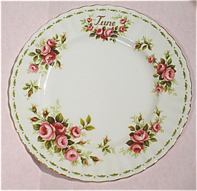 Royal Albert Flower Of The Month June Roses Plate