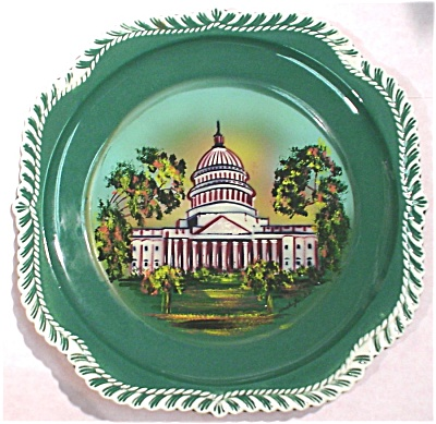Harker Pottery Plate Washington DC Souvenir (Image1)