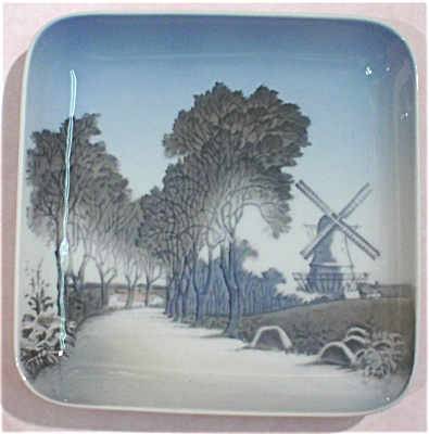 Bing & Grondahl Square Windmill Scene Plate (Image1)