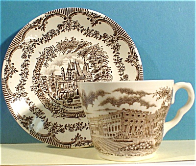 English Ironstone Cup and Saucer (Image1)
