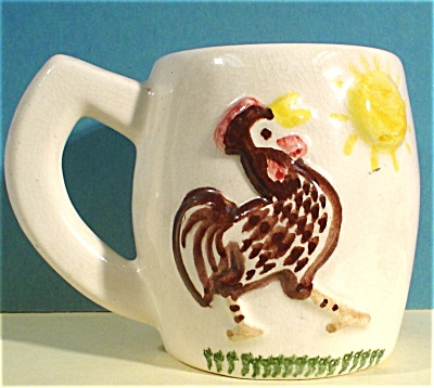 Horlock Pottery of California Rooster Mug (Image1)