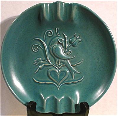Chatham Potters Inc Bird of Paradise Pottery Ashtray (Image1)