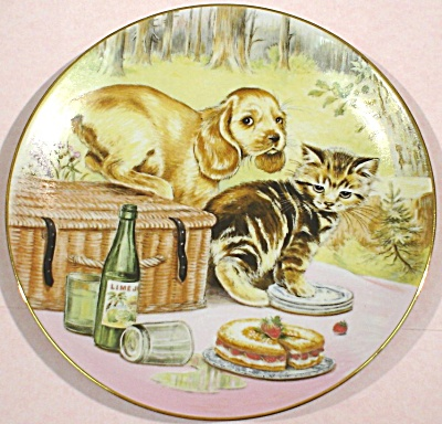 Royal Worcester Cooper Plate Picnic Prowlers