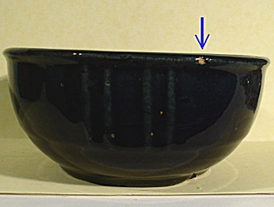 Old Cobalt Blue Glaze Small Bowl (Image1)