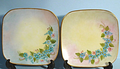 1965 Handpainted Porcelain Miniature Plate Pair (Image1)