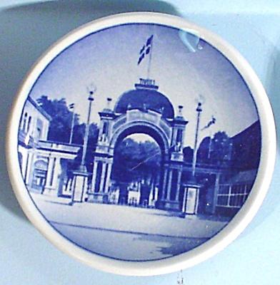 Copenhagen Miniature Plate, Tivoli (Image1)