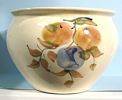 Old Pottery Vase, Apple Design (Image1)