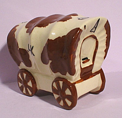 Ceramic Arts Studio Covered Wagon Figurine
