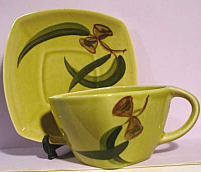 Winfield Eucalyptus Pattern Cup and Saucer (Image1)