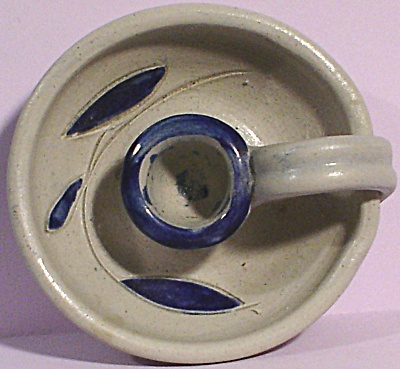 Williamsburg Pottery Stoneware Candle Holder (Image1)