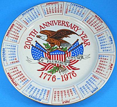 Bicentennial Calendar Plate (Image1)