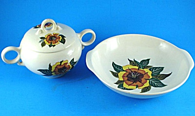 Universal Pottery Ballerina Bowl and Sugar Bowl (Image1)
