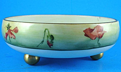 Handpainted Porcelain Footed Bowl (Image1)