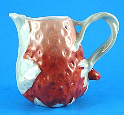 Vintage Porcelain Strawberry Shaped Creamer (Image1)