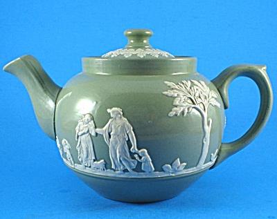 Dudson Bros Gloss Green Jasperware Teapot (Image1)