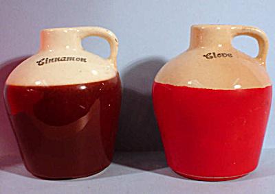 Vintage Pottery Jug Spice Bottles (Image1)
