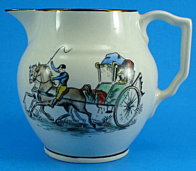 Gray's Pottery Pitcher with Carriage Decoration (Image1)