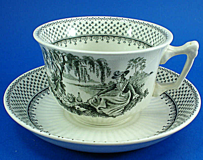 Wm Adams and Son Minuet Ironstone Cup and Saucer (Image1)