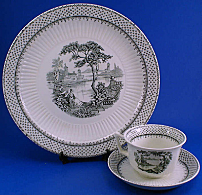 Adams and Son Minuet Ironstone Plate Cup Saucer (Image1)
