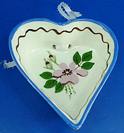 California Cleminsons Pottery Heart Wall Hanger
