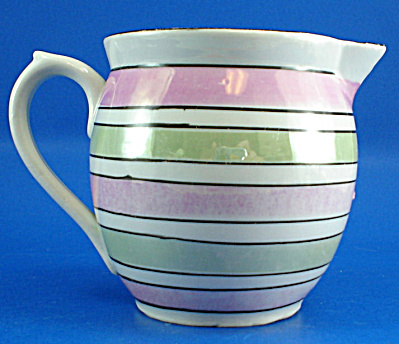 Small Czechoslovakia Pitcher, Luster Stripe (Image1)