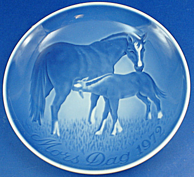Bing & Grondahl 1972 Mothers Day Plate, Horses (Image1)