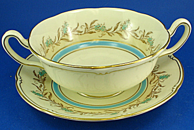 Royal Doulton Prelude Pattern Soup Cup And Saucer