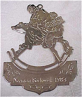 Mcdonalds 1983 Rockwell Metal Ornament