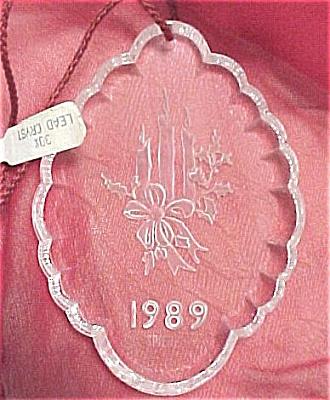 1989 Speigel Lead Crystal Christmas Ornament (Image1)