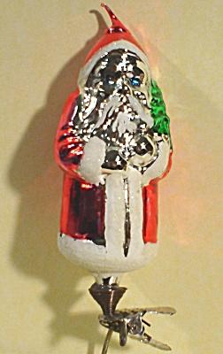 Clip-on Glass Santa Ornament (Image1)