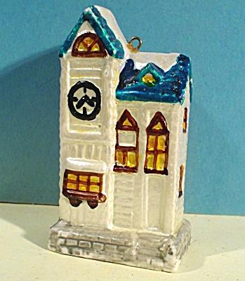 New Bone China House Christmas Ornament (Image1)
