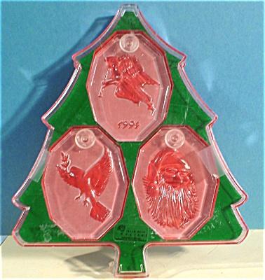 Irish Rose Lead Crystal Christmas Ornament Trio (Image1)