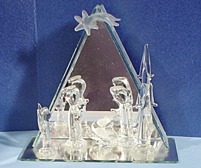 Glass Nativity Display