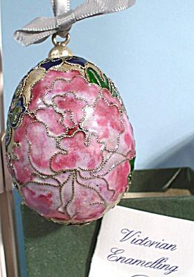 Enamelled Flower Design Egg Ornament (Image1)