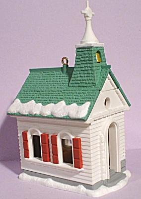 1995 Hallmark Opening Church Ornament - Nativity Scene (Image1)
