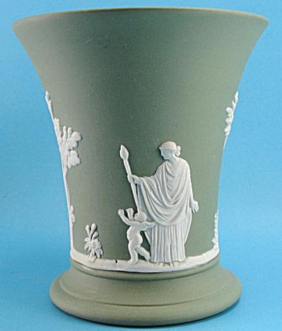 Wedgwood Green Jasperware Posy Vase (Image1)
