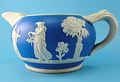Copeland Blue Jasperware Creamer Pitcher (Image1)