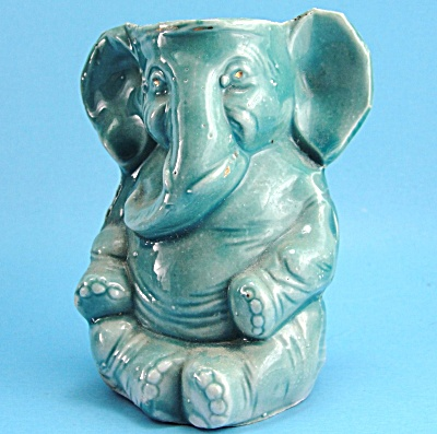 Old Austrian Elephant Small Vase or Toothbrush Holder (Image1)