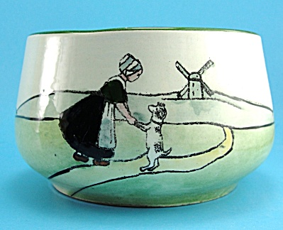 Dutch Scene Girl With Dog Haag Bowl